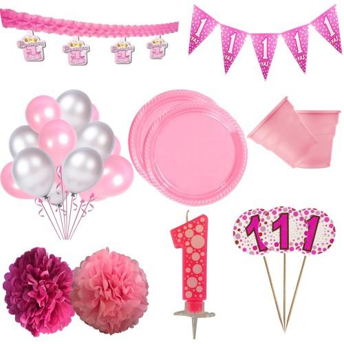 1 Yaş Kız Doğum Günü Konsepti Malzemeleri
