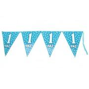 1 Yaş Mavi Puantiyeli 2 mt Üçgen Flama Erkek Doğum Günü Parti