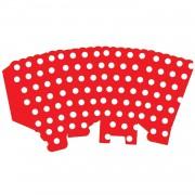 10 Ad Beyaz Puantiyeli Kırmızı Mısır İkram Kutusu Benekli Popcorn