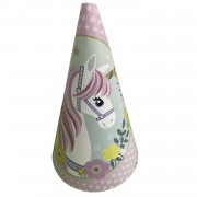 10 Ad Unicorn Karton Huni Doğum Günü Parti Şapkası, Tek Boynuz At