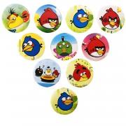 10 Adet Angry Birds Yaka Rozeti, Doğum Günü Erkek Hediyelik Süs