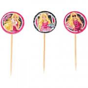 10 Adet Barbie Sunum Kürdanı, Doğum Günü Partisi Lisanslı Kürdan