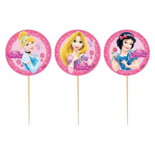 10 Adet Disney Prensesler ( Princess) Sunum Kürdanı, Parti Süsü
