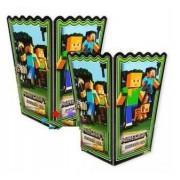 10 Adet Minecraft Mısır İkram Kutusu Doğum Günü Parti Malzemesi