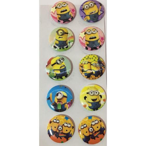 10 Adet Minyon,Minion,Minions  Çılgın Hırsızlar Rozet Hediyelik Parti Malzemeleri