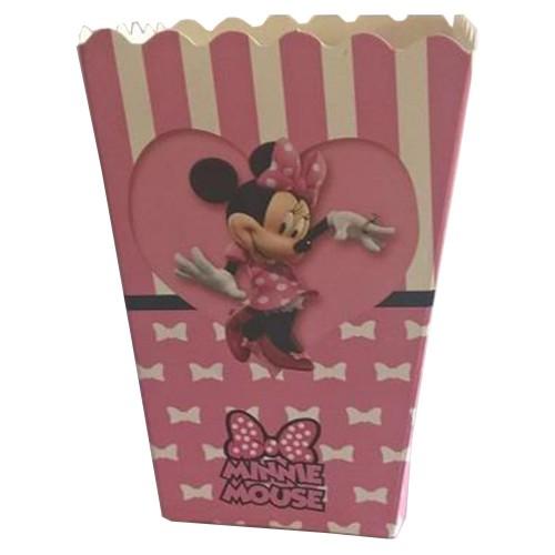 10 Adet Minnie Mouse Pembe Mısır İkram Kutusu Kız