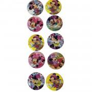 10 Adet Minnie Mouse Rozet Hediyelik Kız Parti Malzemeleri