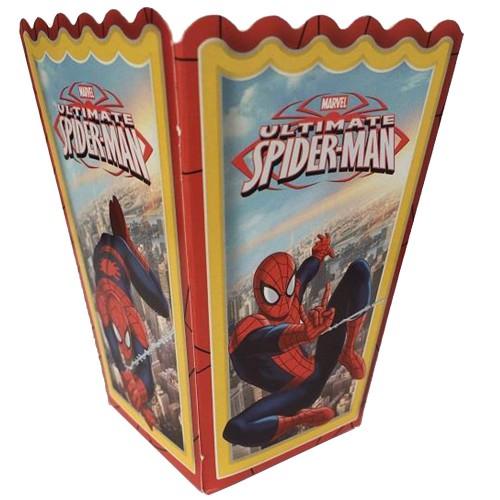 10 Adet Örümcek Adam (Spiderman) Mısır İkram Kutusu Erkek