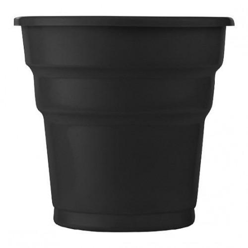 10 ADET Siyah Bardak Kullan At 200 ml Doğum Günü Parti Ucuz