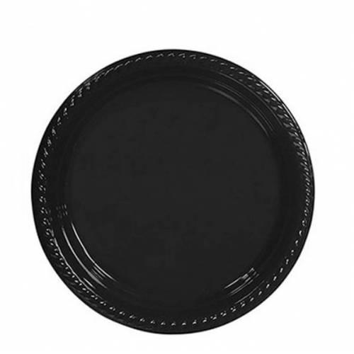 10 ADET Siyah Tabak Kullan At 22 cm Doğum Günü Parti