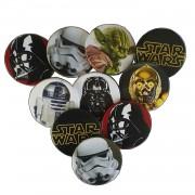 10 Adet Star Wars Yaka Rozeti Doğum Günü Erkek Hediyelik Aksesuar