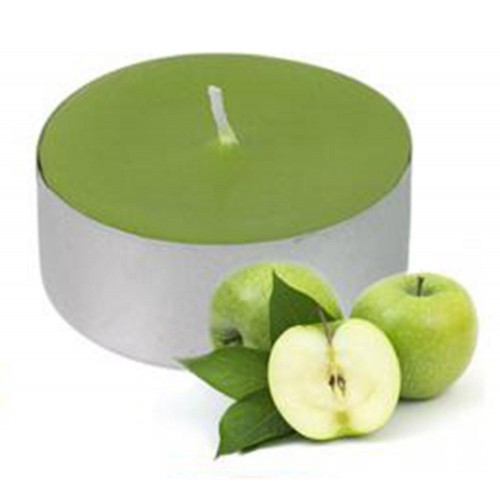 10 Adet Yeşil Yuvarlak Küçük Minik Tealight  Mum, Yer Mumu