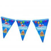 10 Bayraklı 2m Mavi Doğum Günüm Kutlu Olsun Yazılı Flama (Bayrak)