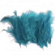 100 Adet Açık Mavi Tüy (Şeffaf Balon İçi Tüyü) Otriş Süslemesi