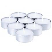 100 Adet Düz Beyaz Tealight Mum, Küçük Yuvarlak Sevgiliye Sürpriz