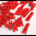 50 Adet Kırmızı Küçük 2 cm Mandal Ataç, Fotoğraf Askısı Mandalı