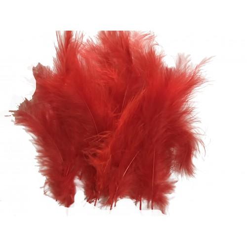 100 Adet Kırmızı Tüy (Şeffaf Balon içi Tüyü) Otriş Süslemesi