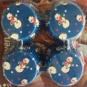 100 Adet Koyu Mavi Kardan Adamlı Cupcake Muffin Kek Kalıbı