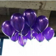 100 lü Adet Metalik Parlak Sedefli Lateks Koyu Mor Renkli Balon