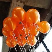100 lü Adet Metalik Parlak Sedefli Lateks Turuncu Renkli Balon