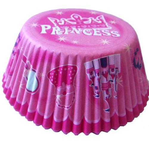 100 Adet Prenses Kağıt Kek Kalıbı Kapsül