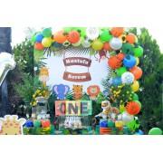 100 Adet Safari Orman Temalı Balon ve 5 Metre Balon Zinciri