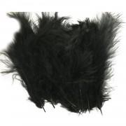 100 Adet Siyah Tüy (Şeffaf Balon içi Tüyü) Otriş Süslemesi
