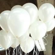 100 lü Adet Lateks Mat Beyaz Renkli Balon