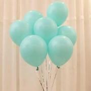 100 lü Adet Lateks Su Mint Yeşili Turkuaz Renkli Balon