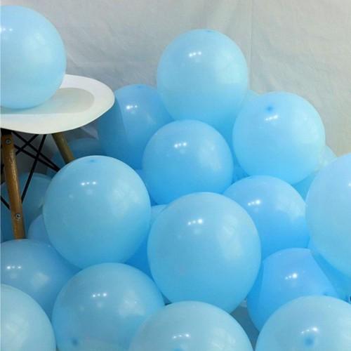 100 lü Adet Mavi Soft Makaron Balon, Mat Pastel Balon Parti Süsü