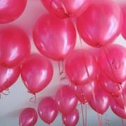 100 lü Adet Metalik Parlak Sedefli Lateks Fuşya Renkli Balon