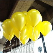 100 lü Adet Metalik Parlak Sedefli Lateks Sarı Renkli Balon