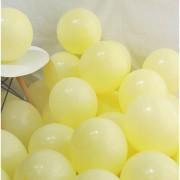 100 lü Adet Sarı Soft Makaron Balon, Mat Pastel Balon Parti Süsü
