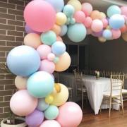 100 Makaron Pastel Balon + Balon Zinciri ve Balon Pompası Seti