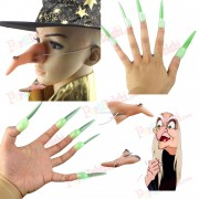 10lu Cadılar Bayramı Halloween Cadı Parmağı ve Cadı Burnu Seti
