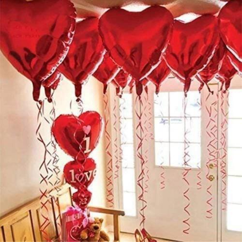 11 Parça Sevgililer Günü Kalp Balon 14 Şubat Süslemesi Erkek Kız