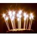 12 Adet Gümüş Gri Renkli Uzun Mum, İnce Çubuk Pasta Mumu