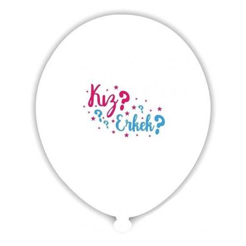 12 Adet Cinsiyet Belirleme Öğrenme Partisi Balonları Bebek Balonu