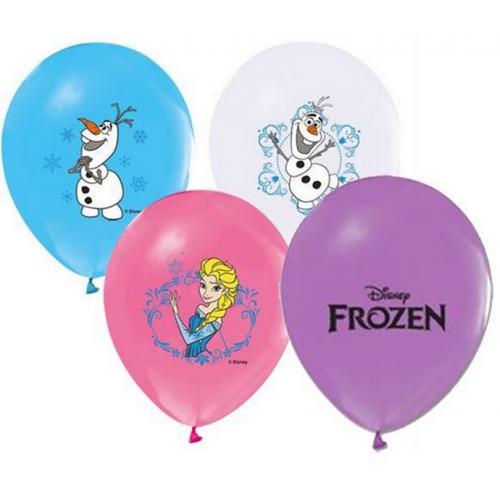 12 li Elsa Frozen Baskılı Karışık Balon, Helyumla Uçan