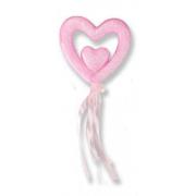 12 Adet Pembe Strafor Kalp Çubuk, Marşmelov Sunum Kovası Çubuğu