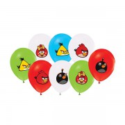 12 li Angry Birds Karışık Balon Doğum Günü Partisi, Helyumla Uçan