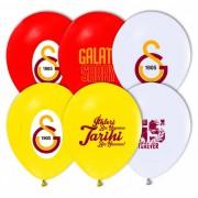 12 li Galatasaray Baskılı Lisanslı Balon Sarı Kırmızı