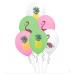 14 Adet Flamingo Baskılı Balon, Karışık Renkli Parti Süsü Balonu