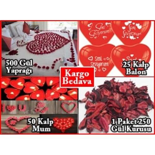 14 Şubat Özel Romantik Süpriz Oda Ev Süsleme, Sevgililer Günü Seti