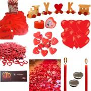 14 Şubat Sevgililer Günü Sürpriz Ev ve Masa Süslemeleri Paketi