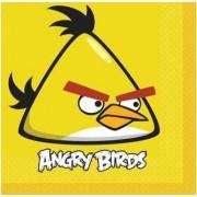 16 Adet Angry Birds Sarı Peçete 33x33cm, Doğum Günü Partisi