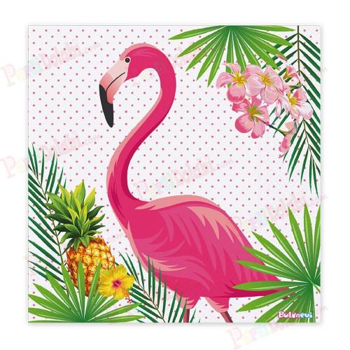 16 Adet Flamingo Kağıt  Doğum Günü Parti Peçetesi