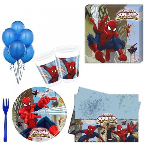 16 kişi Spiderman Örümcek Adam Doğum Günü Parti Malzemeleri Seti Süsleme