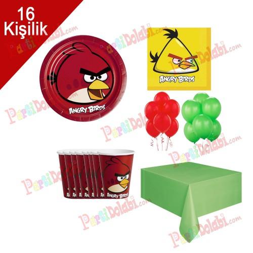 16 Kişilik Angry Birds Doğum Günü Konsepti Peçete Tabak Balon Set