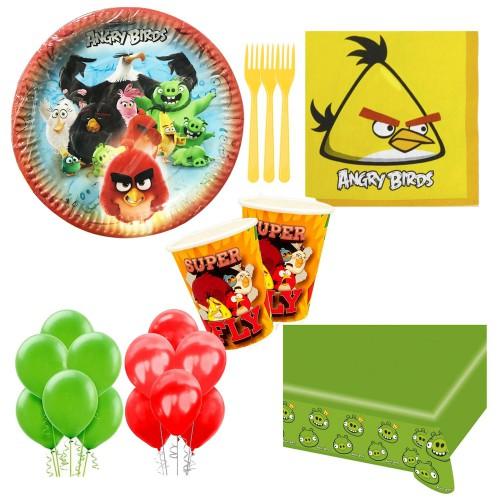 16 Kişilik Angry Birds Doğum Günü Parti Teması Konsepti Seti